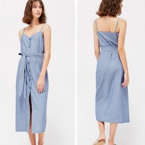 Lacausa Bluebell Chambray Button Front Midi Dress